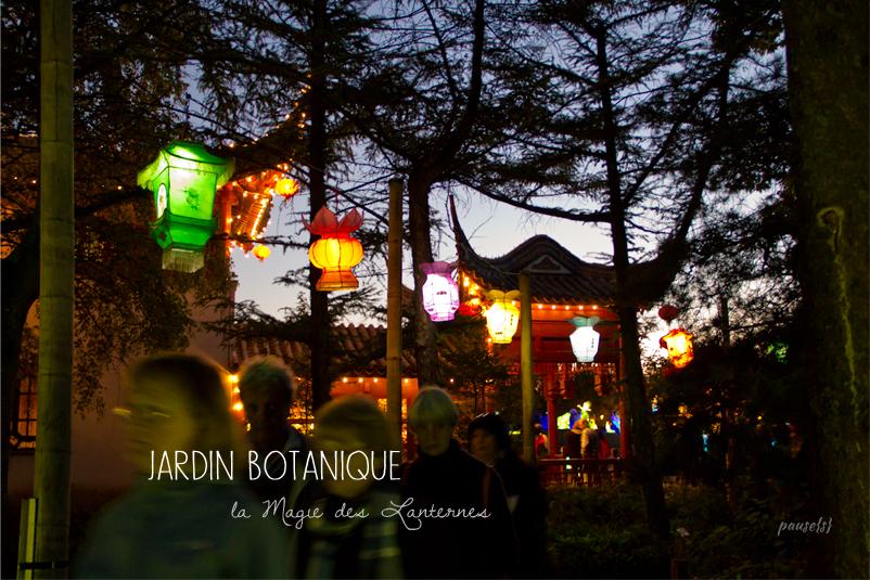 le jardin botanique 2 la magie des lanternes pause s. Black Bedroom Furniture Sets. Home Design Ideas