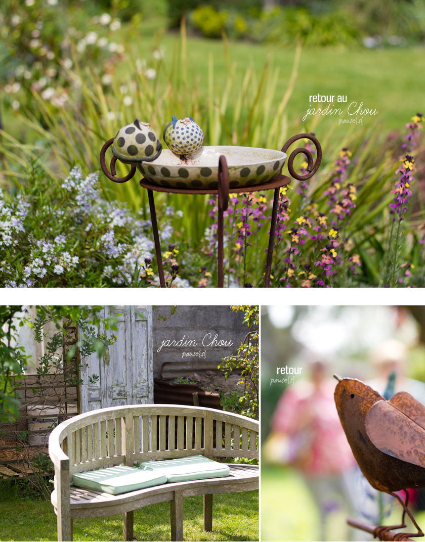 retour au jardin chou pause s. Black Bedroom Furniture Sets. Home Design Ideas